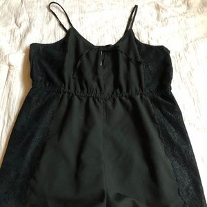 Forever 21 Black Keyhole Playsuit with Lace